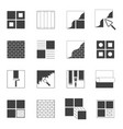 set of 16 icons related to the construction of vector image