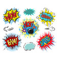set of comic text pop art comic style vector image vector image