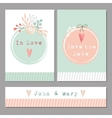 Set of floral romantic weddingbaby shower vector image vector image