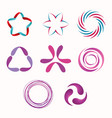 set of geometric shapes vector image