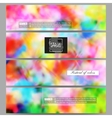 Set of modern banners Colorful background Holi vector image