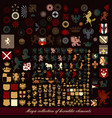 set vintage heraldic elements for design vector image vector image
