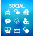Social internet icons vector image