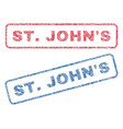 stjohn s textile stamps vector image vector image