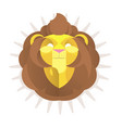 the king lion head logo vector image vector image