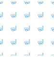 underwater mask icon pattern seamless white vector image vector image