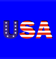 word usa with american flag vector image