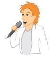 Man with mic vector image