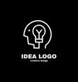 creative idea logo template design vector image