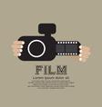 Vintage Camera With Film Strip vector image