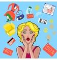 Woman Speech Bubble Sale Design Flat vector image