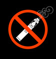 vaporizers prohibited sign design vector image