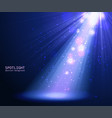 abstract blue spotlight background vector image