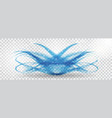 abstract blue wave on transparent background vector image vector image