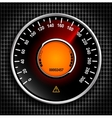 Automobile analog speedometer with a red arrow vector image