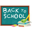 back to school template with stationary vector image vector image