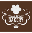 Bakery design over brown background vector image vector image