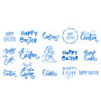 big happy easter collection hand sketched set vector image