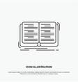 book education lesson study icon line gray symbol vector image