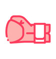 boxing glove fist icon outline vector image
