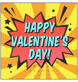 bright speech bubble with happy valentines day vector image vector image