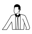 businessman character portrait on white background vector image vector image