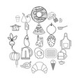 caboose icons set outline style vector image vector image