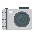 camera flat icon photo and capture vector image vector image