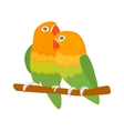 Cartoon parrots isolated birds vector image vector image