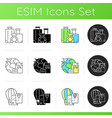 categories travel icons set vector image