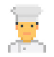 chefc cook pixel art cartoon retro game style set vector image