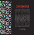 christmas sale concept with seamless pattern vector image vector image