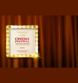 cinema festival theater sign vector image vector image