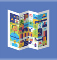city map local card house and building vector image