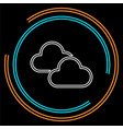 cloud weather button - cloud rainy vector image
