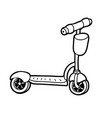 coloring book kick scooter vector image vector image