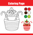 coloring page educational children game color vector image vector image