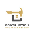 construction logo design letter c vector image vector image