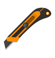 construction utility knife in flat design vector image
