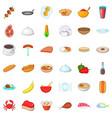 crockery icons set cartoon style vector image vector image