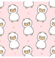 cute alpaca seamless pattern background vector image