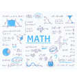 doodle math algebra and geometry school equation vector image