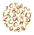 English abc font vector image