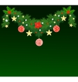 Fir Christmas garland vector image