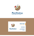 flat coconut logo and visiting card template vector image vector image