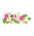 Floral garland card vector image