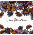 floral save the date card with daisy flowers vector image