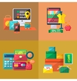 Four Shopping Related vector image