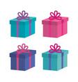 giftbox presents set icons vector image