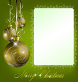 green merry christmas postcard vector image